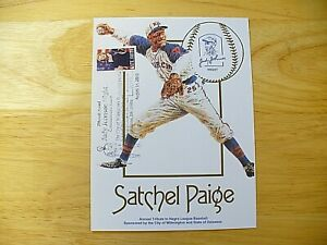 "Negro Leagues - Satchel Paige (6"" x 8"") Photo Card - 2010 - STAMPED"