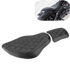 Rough Crafts Diamond Driver+Rear Passenger Seat For Harley Sportster XL883 1200