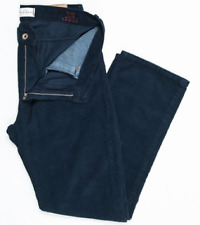 NWT Duck Head $140 Annapolis Navy Blue Cotton Cord  O'Bryan GEORGE Pants 35 32