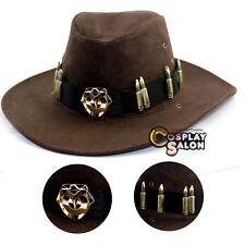Overwatch McCree Cowboy Hat + Copper Badge Cosplay Prop Cap Accessories