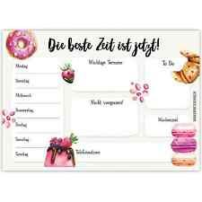 Papierdrachen Schreibtischunterlage DIN A3 - Donut & Macarons
