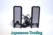 Dell USB Power Light Portable Volume Control PC Stereo Speaker A225 CJ378 JH908