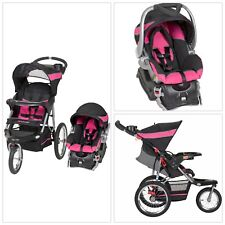 PINK 3-In-1 Baby Trend Jogger Stroller Buggy Travel System Infant Car Seat NEW