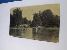 REAL PHOTO POSTCARD IN BELLE ISLE PARK DETROIT MICHIGAN 1909