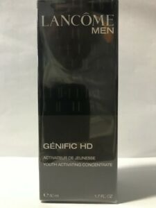 Lancome Men Genific HD Youth Activating Concentrate 50 ml New IN Sealed Box