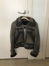 All Saints Asher Shearling Biker Jacket Small