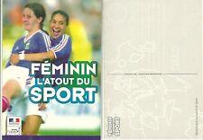 CARTE POSTALE - JOUEUSES DE L' EQUIPE DE FRANCE FEMININ FOOTBALL FOOT LES BLEUES