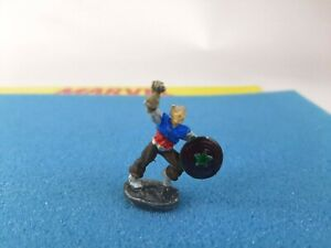 MARVEL SUPER HEROES METAL MINIATURE from  SET #1 - Captain  America - 1984