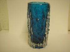 Whitefriars Kingfisher Blue Bark Vase