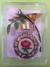 Vintage Perfume empty miniature bottle glass with filler