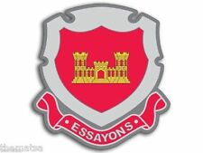 "4"" ARMY CORPS ENGINEERS ESSAYONS TOOLBOX BUMPER HELMET USA MADE STICKER DECAL"