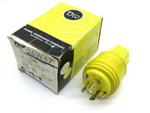 Daniel Woodhead 26W47 Neotex Watertite Turnex Locking Plug 20A 125V NEMA L5-20P