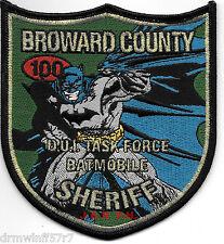 """Broward Co. - D.U.I. Task Force, FL (4.25"""" X 4.5"""")  shoulder police patch (fire)"""