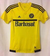 Columbus Crew Yellow adidas Barbasol Soccer Jersey Small #19 MLS