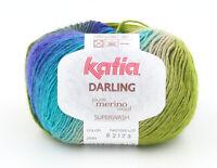 3 Balls of Katia Darling Pure Merino Wool Knitting Yarn (Superwash)