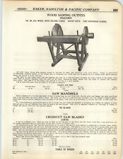 1923 PAPER AD Challenge Wood Sawing Outfit Machine Cross Cut Curtis Blades