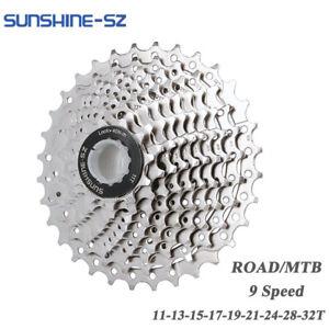 SUNSHINE MTB Road Bike Cassette 9 Speed 11-32T For SHIMANO SORA R3000 3400 3500