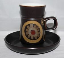 Denby Pottery - Arabesque - Coffee Cup and Saucer - vgc