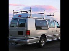 Chevy Express Conversion Van 3 bar 1996-2014 Ladder Roof Racks Steel White Rack