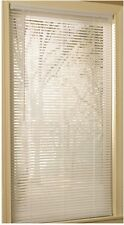 Door Mini-Blinds Light Filtering 1 In Slat Width White Vinyl 45 X 64 Inches