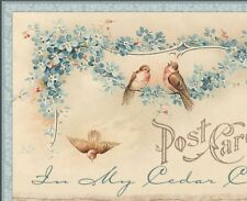 Shabby Vtg Chic Floral Birds Blues Tans Ebay Compliant Listing Auction Template