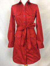 Para Mujer Camisa Vestido Con Tachas Pop MARCS. Reino Unido 10, Rojo.
