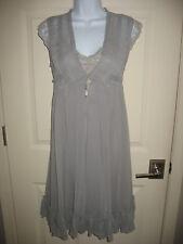 Nightgown Peingnoir Set Sz S Small Sheer Silky Sexy Light Gray Womens