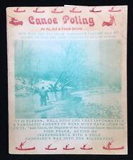 Canoe Poling By Al Syl & Frank Beletz 1974 kayaking canoing river streams how to