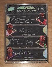 Michael Jordan Lebron James Kobe Bryant Garnett Quad Auto Reprint Autograph Card