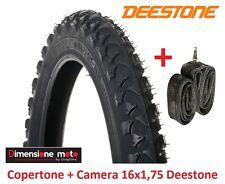 """Copertone Deestone 16x1 75 D-202 Nero Camera per bici 16"""" MTB Mountain Bike"""