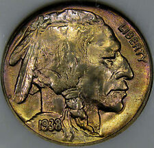 1938-D Buffalo Nickel Monster Gem BU MS++... A True BLAZER with Very Nice COLOR!