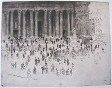 "JOSEPH PENNELL AMERICAN ETCHING ""THE PAVEMENT ST PAUL'S LONDON"" 1905"