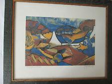 Tableau art paysage breton Bretagne cadre déco peinture Bescond armoricain Neuf