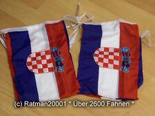Fahnen Flagge Flaggenkette Kroatien 6 Meter Lang