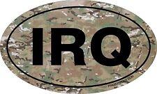 Iraq Car Truck Sticker IRQ Travel locations 5x3 inch Perfect for military