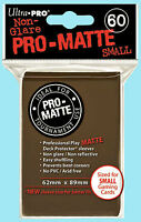 Ultra Pro 60 BROWN PRO-MATTE Small Deck Protector Rough Textured Card Sleeves