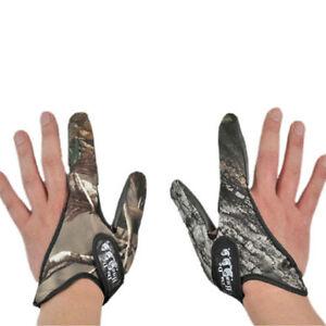 Non-Slip 2 Casting Finger Fishing Gloves Camouflage Finger Stall Protector Fish