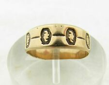 Antique Victorian Rose Gold Wedding Eternity Design 6mm Band Ring Size 6.5