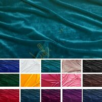 18 Colours - Luxurious Quality Soft Velour Velvet Stretch Dress Fabric Material