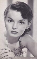 JOAN  EVANS -  hollywood  MOVIE  STAR/actress 1950s  arcade/exhibIit card