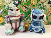 2 Pokemon Center Set Dialga Palkia Plush stuffed Pokedoll figure lot USA Seller