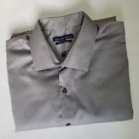 Geoffrey Beene Men's Gray Dress Shirt | Size 18 | Fitted | No Iron