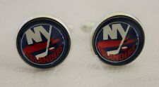 New York Islanders Cufflinks made from Hockey Trading Cards Upcycled