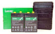Genuine Lucas PU7D Battery Box B38-6 Large With Lid & 2 X 6V 4AH Lucas Battery