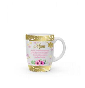 New boxed Mum Flower present gift fine china mug coffee cup Free P+P