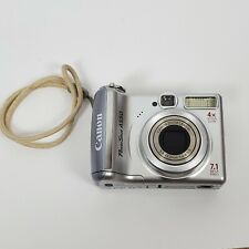 Canon PowerShot A550 7.1 MP Digital Camera Silver Tested