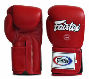 New Fairtex Muay Thai Boxing Gloves BGV5 Red Super Sparring MMA K1