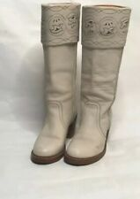 Frye Off White Heel Boot Size 7.5