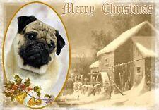 Pug Dog A6 Christmas Card Design XPUG-6 by paws2print