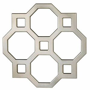 "Modern ** GEOMETRIC DECORATIVE WALL MIRROR ** 25"" x 25"" ** NIB"